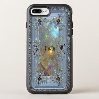 Vanfleet viktorianische Mädchen-Monogramm-Eleganz OtterBox Symmetry iPhone 8 Plus/7 Plus Hülle