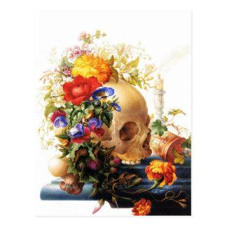 Vanitas Blumenstrauß-Postkarte Postkarte