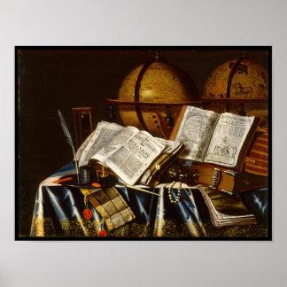 """Vanitas"" Stillleben - Adam Bernaert (1665) Poster"