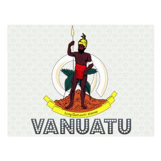 Vanuatu-Wappen Postkarte