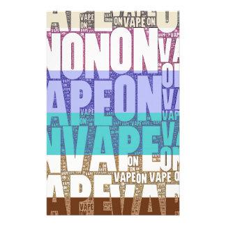 Vape auf Typografie-TAN-Türkis Büropapier