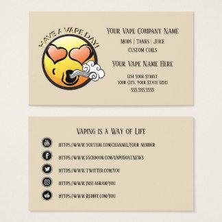 VAPE | glückliches Vaping Geschäft mit Visitenkarte