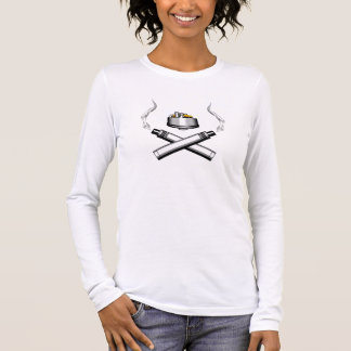 Vaping: RDA und Mech Mod-gekreuzte Knochen Langarm T-Shirt