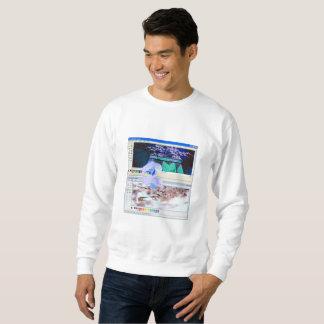 Vaporwave Art-Kirschblüte Crewneck Sweatshirt