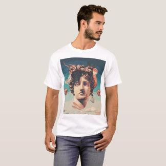 Vaporwave ästhetischer Statue-Mann-T - Shirt