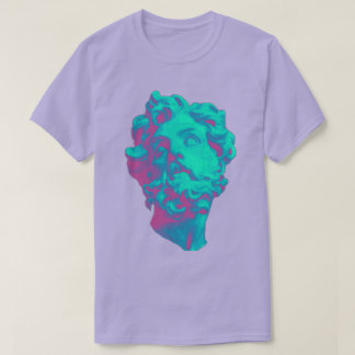 Vaporwave ästhetischer Störschub-Statue-Mann-T - T-Shirt