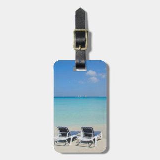 Varadero, Kuba. Sand-und Strand-Stühle Adress Schild