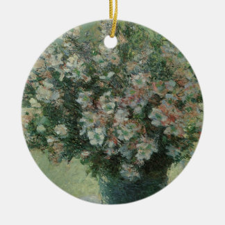 Vase Blumen durch Claude Monet, Vintage feine Keramik Ornament