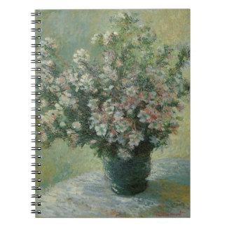 Vase Blumen durch Claude Monet, Vintage feine Notizblock