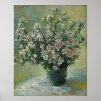 Vase Blumen durch Claude Monet, Vintage feine Poster