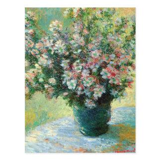 Vase Blumen-feine Kunst durch Claude Monet Postkarte
