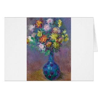 Vase Chrysanthemen Claude Monet Karte