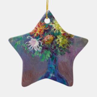 Vase Chrysanthemen Claude Monet Keramik Ornament