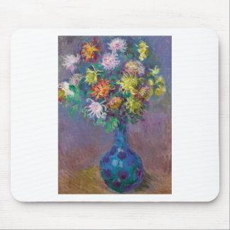 Vase Chrysanthemen Claude Monet Mauspad