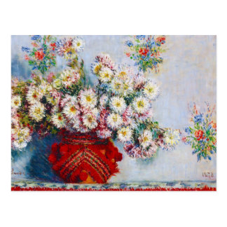 Vase Chrysanthemen Claude Monet Postkarte