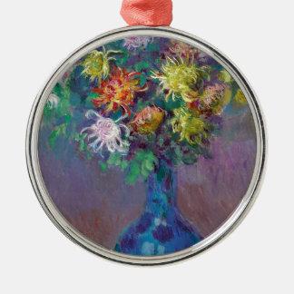 Vase Chrysanthemen Claude Monet Silbernes Ornament