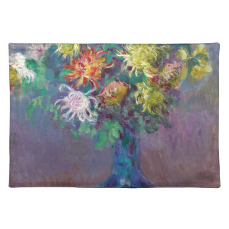 Vase Chrysanthemen Claude Monet Tischset