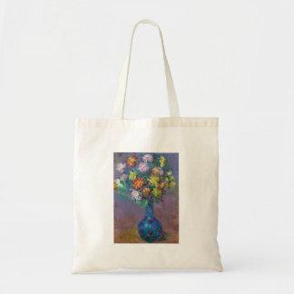 Vase Chrysanthemen Claude Monet Tragetasche