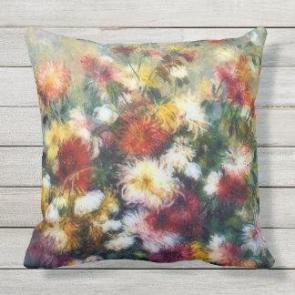 Vase Chrysanthemen Renoir schöne Kunst Kissen