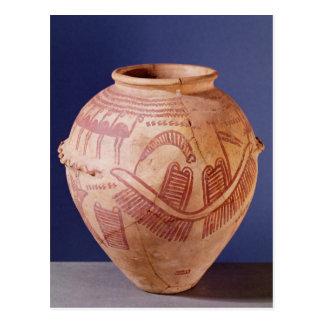 Vase, der zwei Schreine auf einem Lastkahn Postkarte