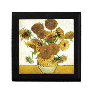 Vase mit fünfzehn Sonnenblumen durch Vincent van Geschenkbox