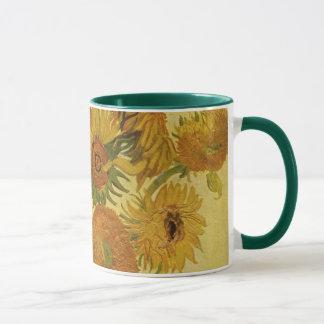 Vase mit fünfzehn Sonnenblumen, Van- Goghschöne Tasse