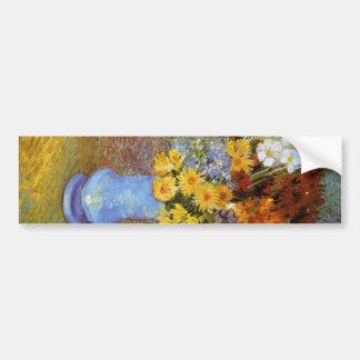 Vase mit Gänseblümchen und Anemonen - Van Gogh Autoaufkleber