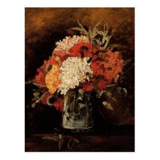 Vase mit Gartennelken durch Vincent Willem Van Postkarte