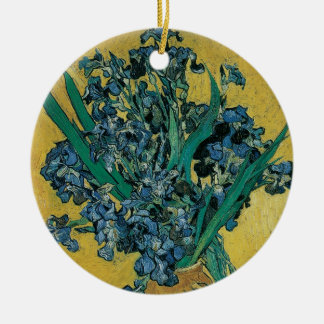 Vase mit Iris durch Vincent van Gogh, Vintage Keramik Ornament