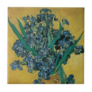 Vase mit Iris durch Vincent van Gogh, Vintage Keramikfliese
