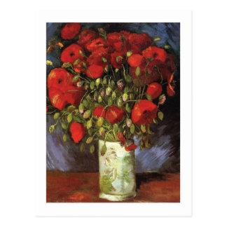 Vase mit roten Mohnblumen durch Vincent van Gogh Postkarte