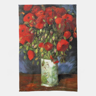 Vase mit roten Mohnblumen Vincent van Gogh Geschirrtuch
