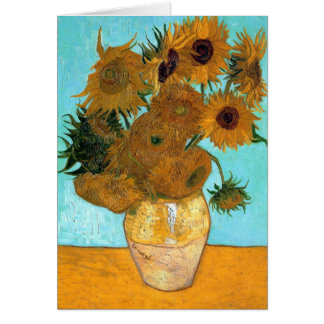 Vase mit zwölf Sonnenblumen durch Vincent van Gogh Karte