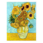 Vase mit zwölf Sonnenblumen durch Vincent van Gogh Postkarte