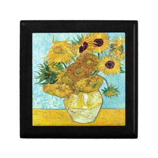 Vase mit zwölf Sonnenblumen durch Vincent van Gogh Schmuckschachtel