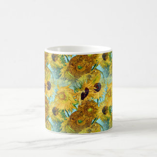 Vase mit zwölf Sonnenblumen durch Vincent van Gogh Tasse