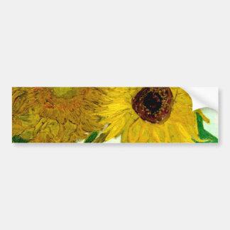 Vase mit zwölf Sonnenblumen, Van- Goghschöne Kunst Autoaufkleber