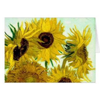 Vase mit zwölf Sonnenblumen, Van- Goghschöne Kunst Karte