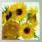 Vase mit zwölf Sonnenblumen, Van- Goghschöne Kunst Poster