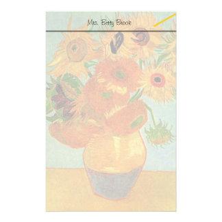 Vase mit zwölf Sonnenblumen, Vincent van Gogh. Briefpapier