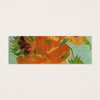 Vase mit zwölf Sonnenblumen, Vincent van Gogh. Mini Visitenkarte