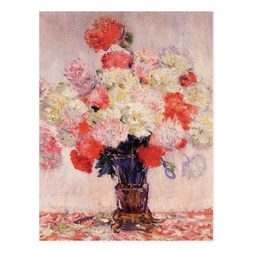 Vase Pfingstrosen durch Claude Monet Postkarte