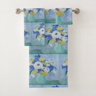 Vase voll Gänseblümchen Badhandtuch Set