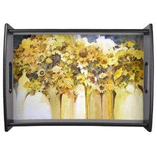 Vasen des Blumen-Behälters Tablett