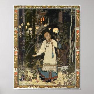 Vasilisa - gehen Sie von Kuchen Yagas Hütte zurück Poster