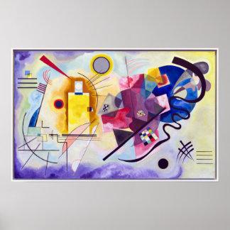 Vasily Kandinsky Gelb-Rot-Blau Poster