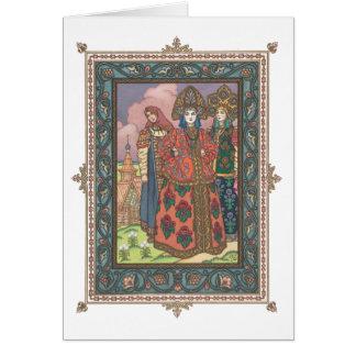 Vassilissa der schöne russische Folktale Karte