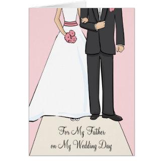 Vater der Braut danken Ihnen zu kardieren Karte