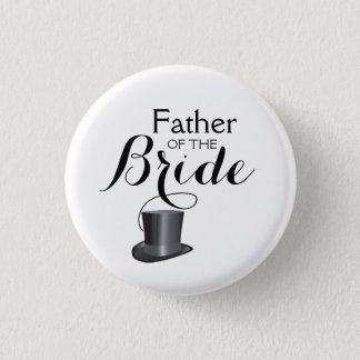 Vater der Braut, die Pinback Wedding ist, knöpft Runder Button 2,5 Cm
