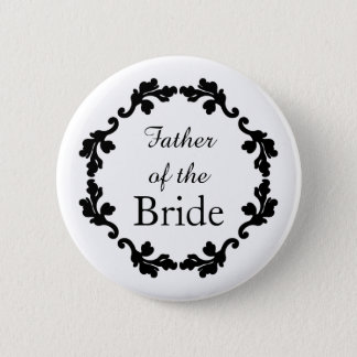 Vater der Braut Runder Button 5,7 Cm